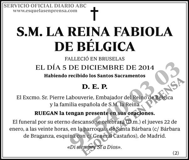 La Reina Fabiola de Bélgica